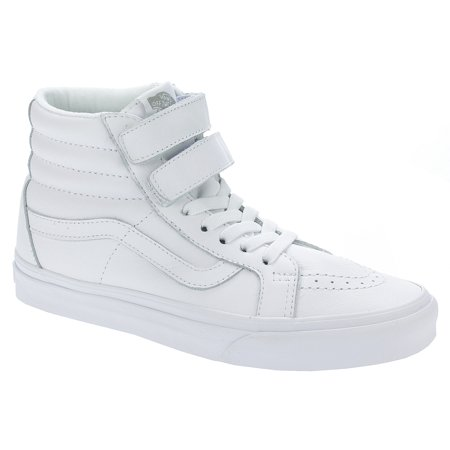 Vans Sk8 Hi White - Vans SK8 Hi V Mono Leather True White Men's Skate Shoes Size 10.5