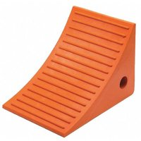 Wheel Chock, 11 D, 8 H, 8 W, Orange MONSTER MOTION SAFETY BY CHECKERS