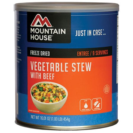Mountain House 30113 Vegetable Stew W/Real Beef Can 1 Rice Vegetables Stews