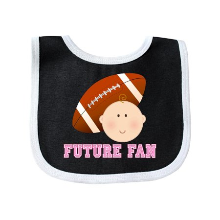 Girls Football Future Fan Baby Bib Black/White One Size