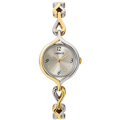 Carriage by Timex Women's Silver Dial Two-Tone Bracelet Watch