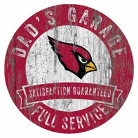 "Arizona Cardinals 12"" x 12"" Dad's Garage Sign - No Size"