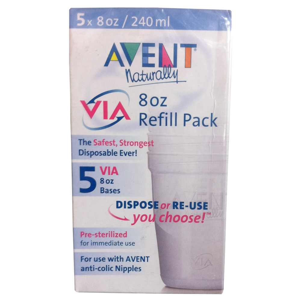 Philips Avent VIA 8 oz. Refill - 5 Pack - CLOSEOUT!!