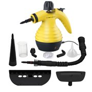 Handheld Pressurized Steam Cleaner with 9-Piece Accessories for Stain Removal, Carpets, Curtains, Car Seats