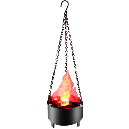 TOPCHANCES 3W LED Artificial Fire Lamp Fake Flame Effect Lamp 3D Fire Campfire Centerpiece Flame Lightning Torch Light with US Plug for Christmas Halloween Party Decoration