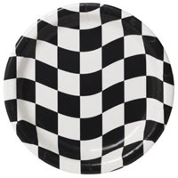 Hoffmaster Group 429944 9 in. Race Theme Party Dinner Plates - 8 per Case - Case of 12
