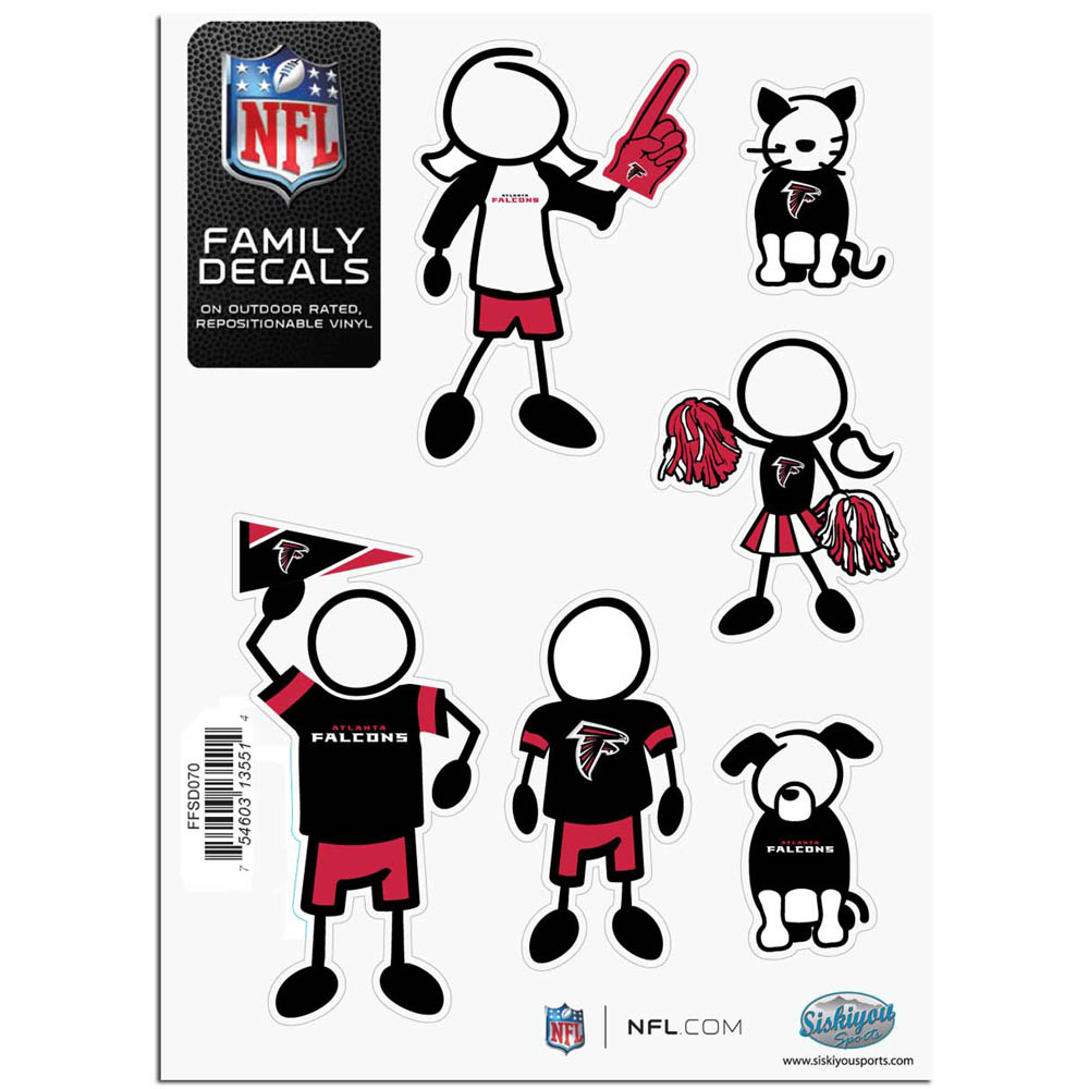 Atlanta Falcons Official NFL Small Family Decal Set by Siskiyou 135514