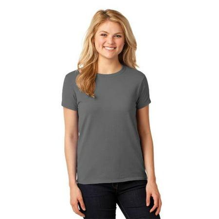 5000L Ladies Heavy 100 Percent Cotton T-Shirt, Charcoal - Medium