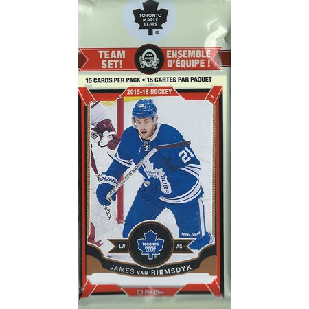 Toronto Maple Leafs 2015 2016 O Pee Chee NHL Hockey Brand New Factory Sealed 16 Card Licensed Team Set Made By Upper Deck Including James van Riemsdyk (1986 87 O Pee Chee Hockey Cards)
