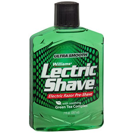 Williams Lectric Shave, Electric Razor Pre-Shave, With Soothing Green Tea Complex, 7 Fluid Ounce (Best Pre Shave Oil)