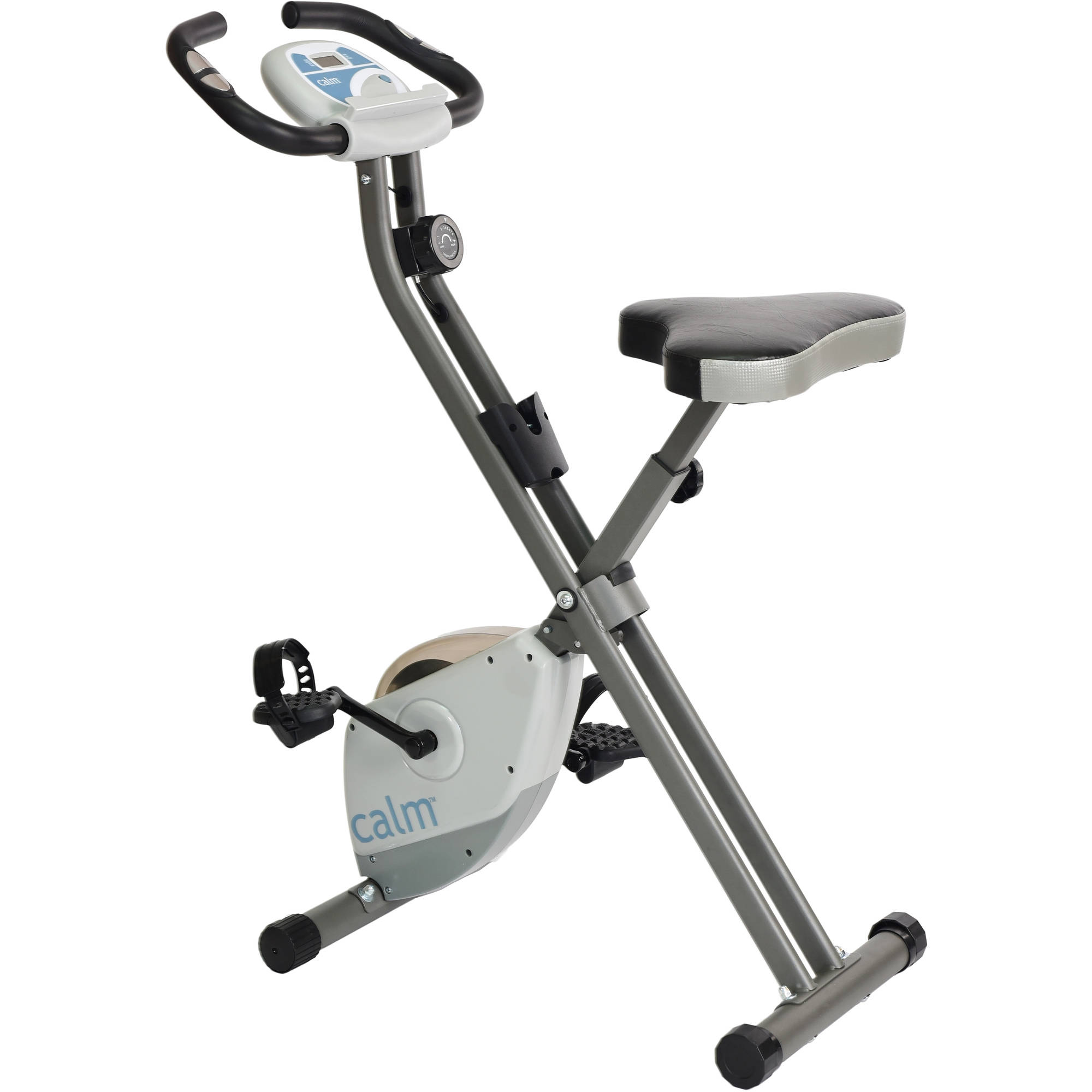 Exercise Bike Replacement Pedals: Folding Exercise Bike Compact Foldable Padded Seat Pulse