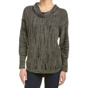 Nic + Zoe NEW Bramble Green Women's Size PL Cowl Neck Sweater