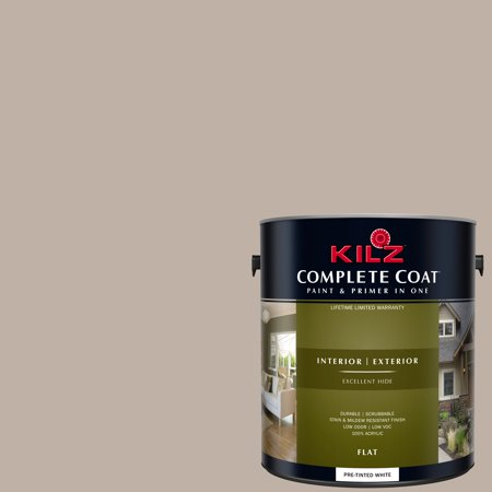 KILZ COMPLETE COAT Interior/Exterior Paint & Primer in One #LL250 Staccato Mauve