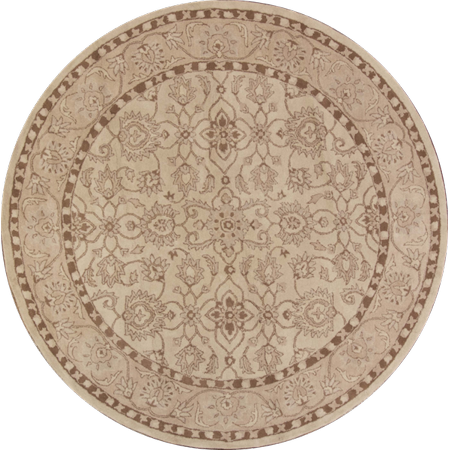 Rugsource Round 10 ft Hand Made Oushak Indian Oriental Area Rug for Bedroom (10