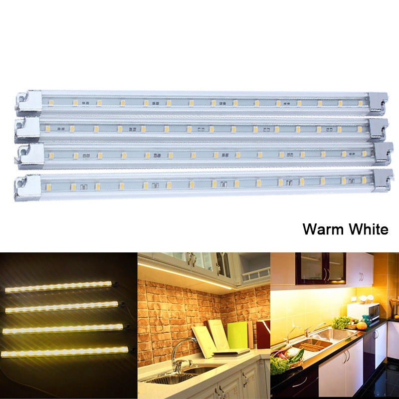 Estink Under Kitchen Cabinet Led Lighting Kit, 4Pcs Energy Saving Light LED Strip Kit Under Counter,Warm White