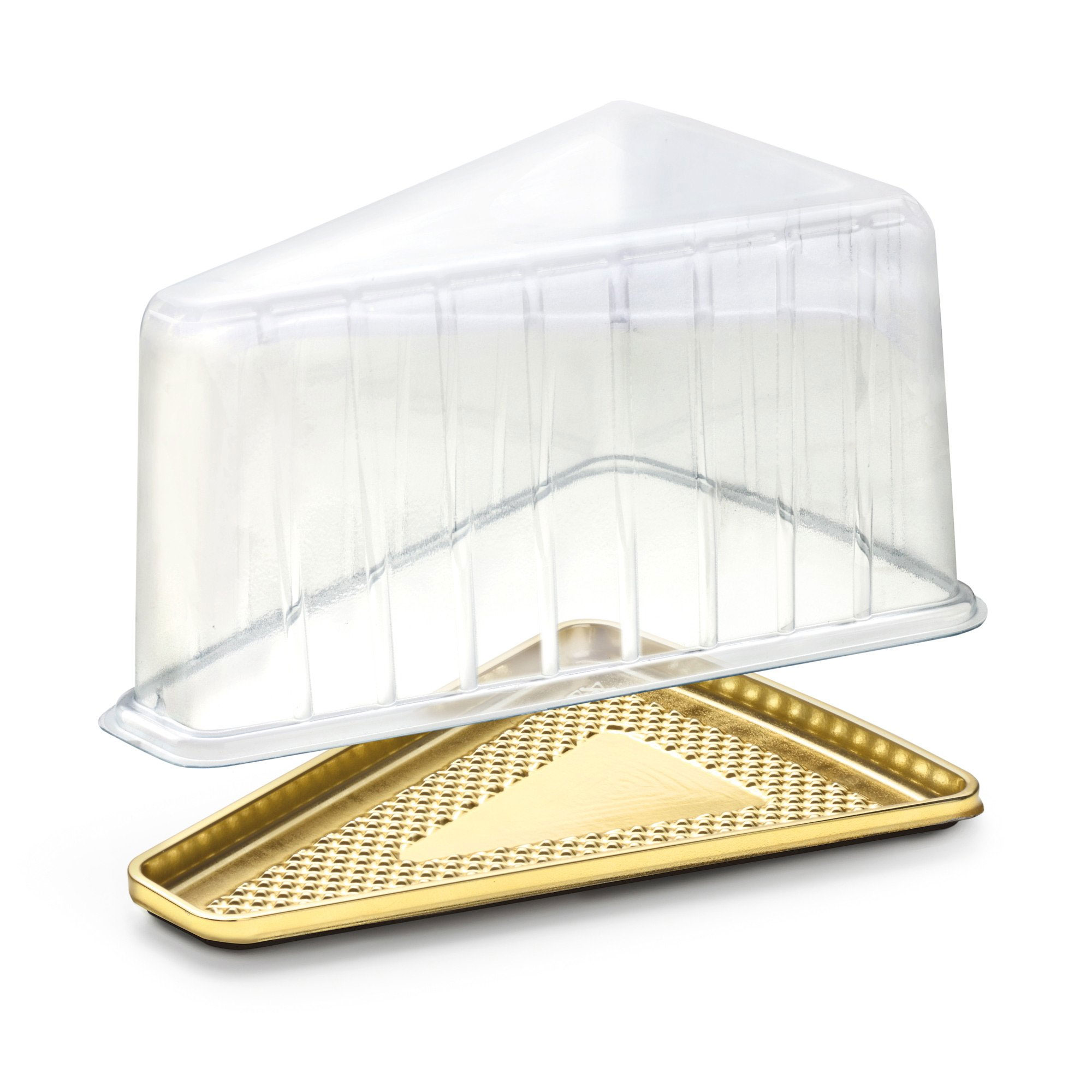 "6.3""l x 4.8""W x 3.2""H Dome Lid for Medoro Gold Cake Slice Tray,Case of 400"
