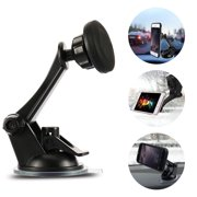 Car Phone Mount, Rotary Car Windshield Dashboard Suction Cup Magnetic Mount Holder For Cell Phones, Compatible with iPhone 11 pro,11 pro max,X,XS,XR,8,7,6 Plus,Galaxy S7,8,9,10, GPS and More