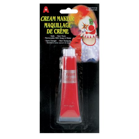 Loftus Halloween Costume Non-Toxic Face & Body 0.5 Oz Cream Makeup, Red](Halloween Face Paint Mouth)