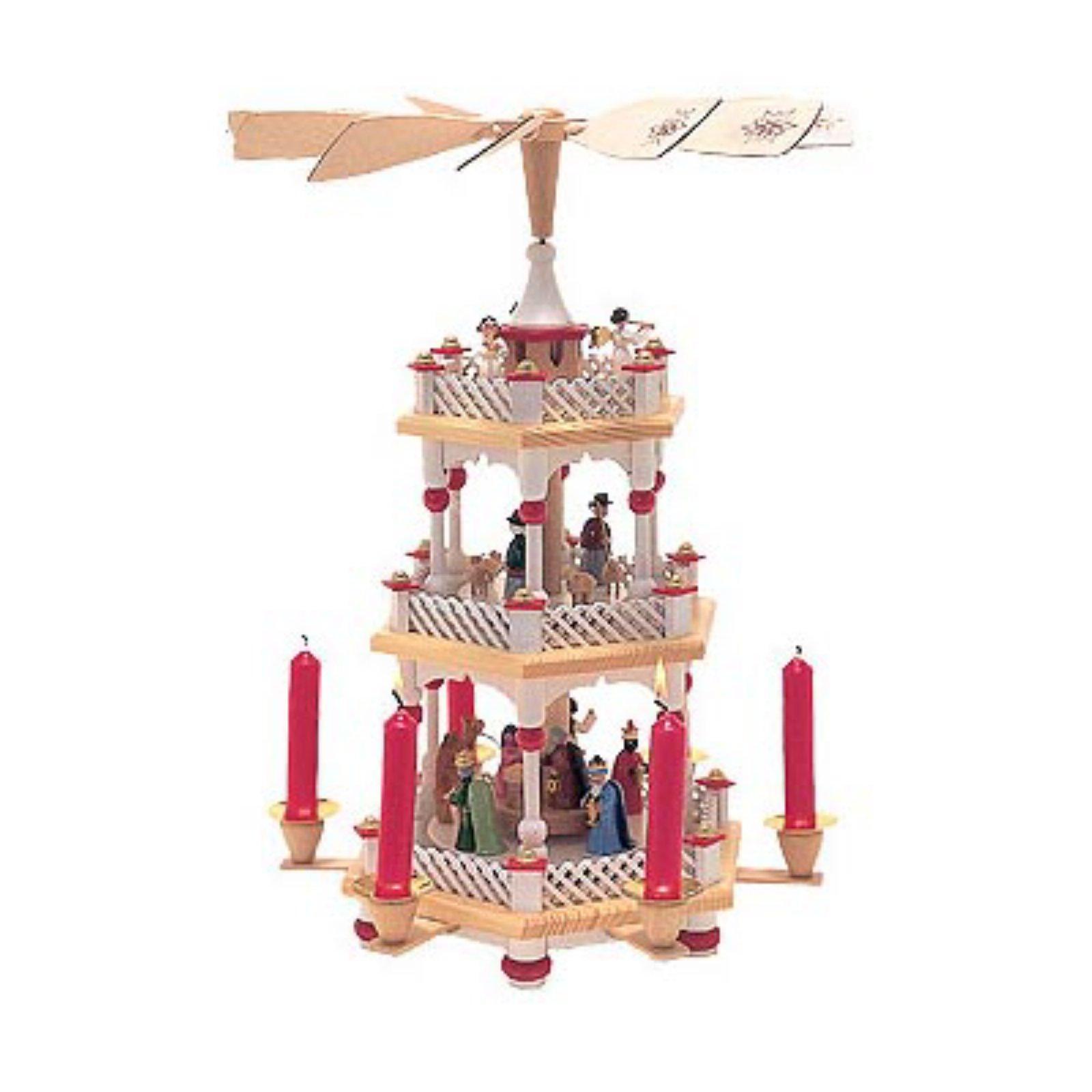 Richard Glaesser Holy Family Three Tier Hexagon Nativity Pyramid