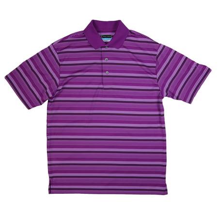 cf150ddffa PGA Tour NEW Purple Mens Size Small S Airflux Striped Golf Polo Shirt -  Walmart.com