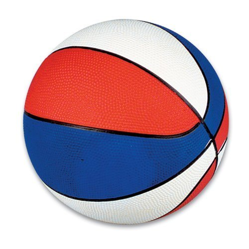 "7"" Mini Red/White/Blue Basketball (1 Piece per order)"