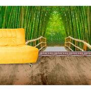 "Startonight Mural Wall Art Bamboo Alley Illuminated Nature Trees Wallpaper Photo 5 Stars Gift Large 10 x 28,82 '' x 50,4 '' Total 8'4""x 12'"