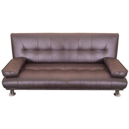 Merax Contemporary Convertible Sofa Split Back Sleeper Futon