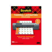 """Scotch Thermal Laminating Pouches, 100 Count, 8.5"""" x 11"""", 3 mil Thick"""