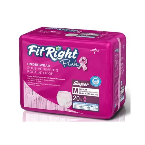FitRight Pink Protective Underwear,Medium FITPINKMDZ