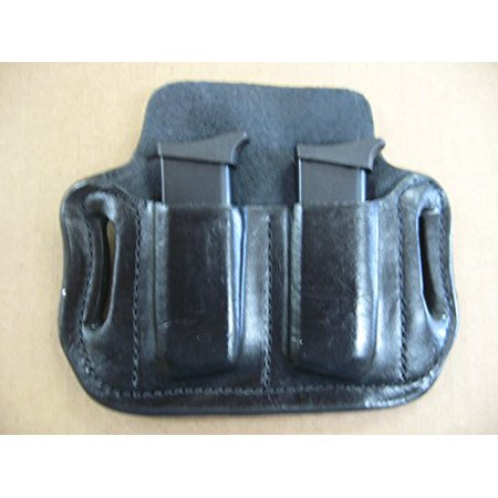 Azula Leather 2 Slot Molded Pancake Belt Mag Clip Pouch for Smith & Wesson S&W Bodyguard 380 Black Smith And Wesson Clips