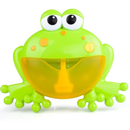 Bubble Machine Big Frog Automatic Bubble Maker Blower Music Bath Toys For Baby