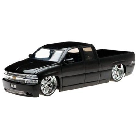 Chevy Silverado Pickup Truck, Black - Jada Toys Dub City 63112 - 1/18 scale Diecast Model Toy - Dub City