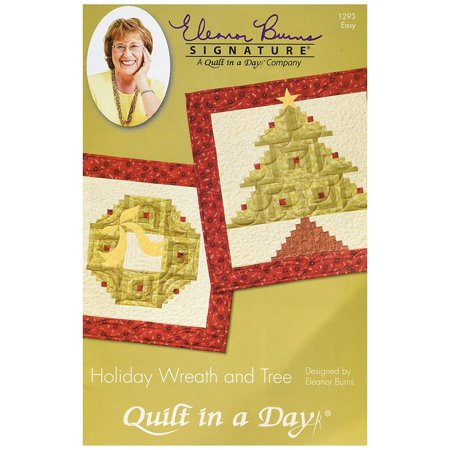 EB-1293 Eleanor Burns Pattern, Holiday Wreath and Tree Quilt, Pattern only By Quilt In A -