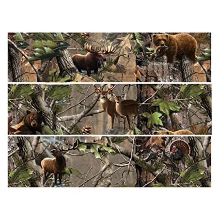 Mossy Oak Camo Hunting Deer Bear Elk Turkey Edible Icing Image Cake Border Strips (3 - Camouflage Wedding Cakes