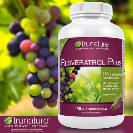 - trunature Resveratrol Plus, 140 Vegetarian Capsules
