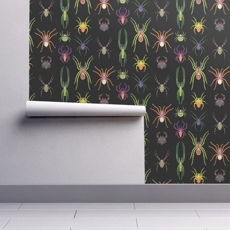Removable Water-Activated Wallpaper Colorful Spiders Jewel Tone Bugs And Insects](Colorful Spider)
