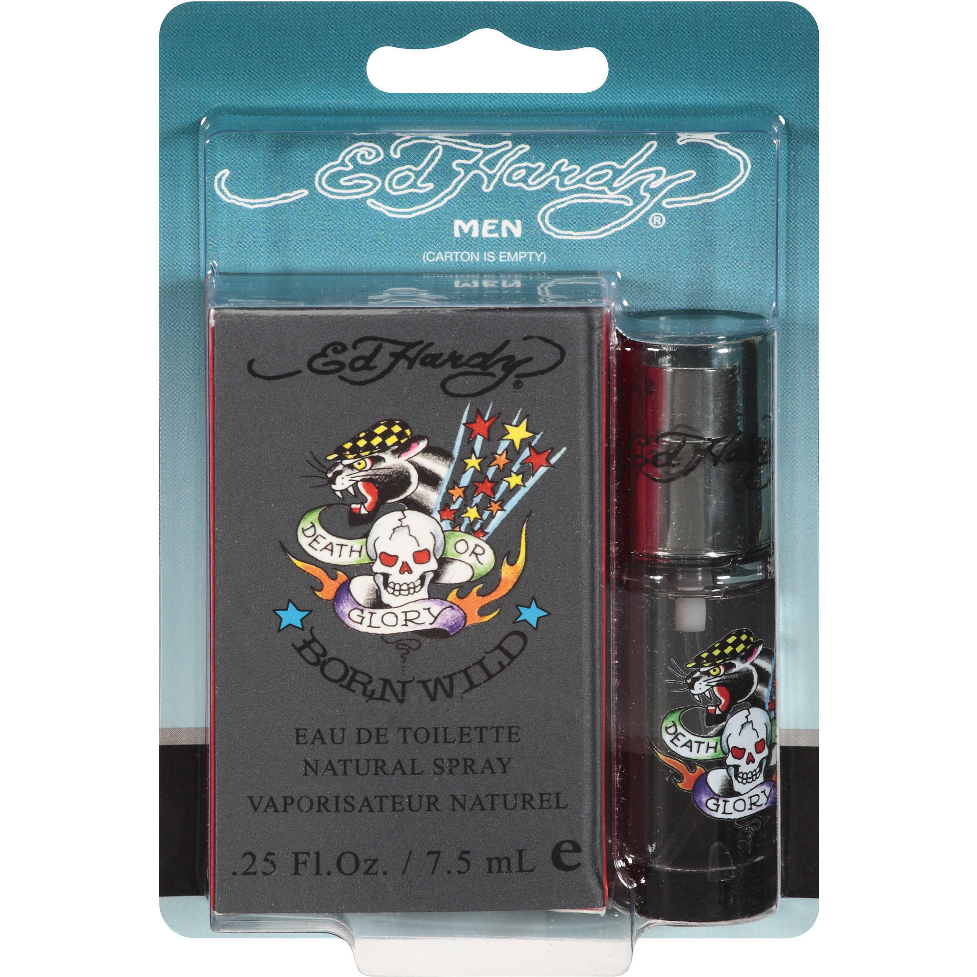 Ed Hardy Born Wild Eau de Toilette Spray for Men, 0.25 fl oz