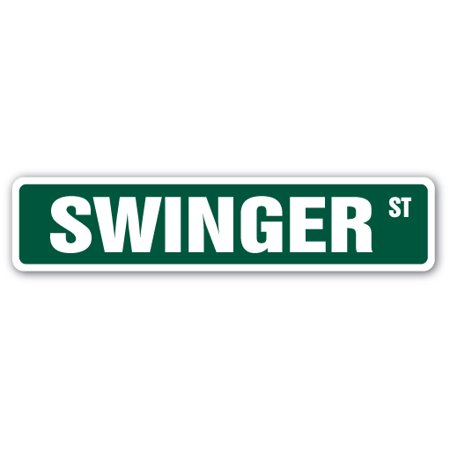 SWINGER Street Sign wife swap sex sexy club | Indoor/Outdoor |  24