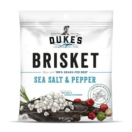 - (2 pack) Duke's Traditional Sea Salt & Pepper Beef Brisket Strips, 2.5 Oz
