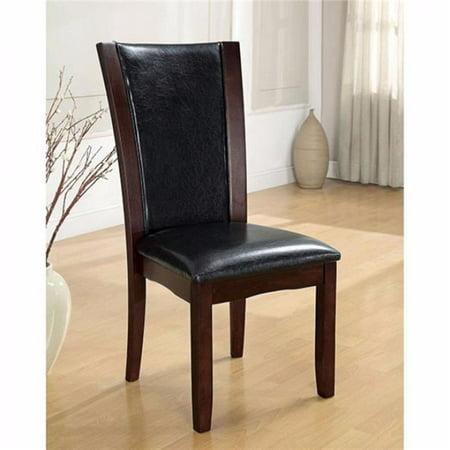 Manhattan I Contemporary Side Chair, Dark Cherry - Set of 2 Dark Cherry Side Server