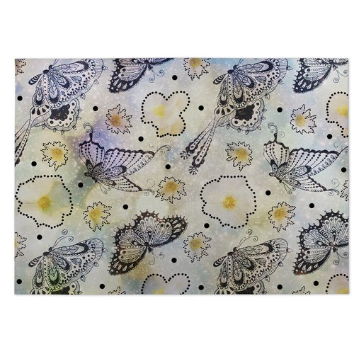 KAVKA DESIGNS Butterfly Effect Yellow/Purple Indoor/Outdo...