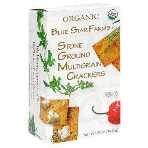 Blue Star Farms Organic Stoneground Multigrain Crackers 5 OZ (Pack of 6)