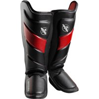 Hayabusa T3 Striking Shinguards, Black/Red Small