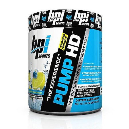 BPI Sports Pompe HD, bleuets et au citron Gel, 8,8 Oz