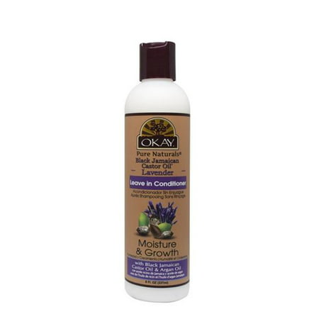 OKAY OKAY-BJLAVLC8 8 oz 237 ml Black Jamaican Castor Oil with Lavender Leave in Conditioner Moisture & (Castor Oil And Lavender Oil For Hair)