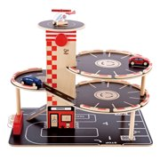 Hape Park and Go Toddler Kids Wooden Toy Car Parking Garage Play Set | E3002