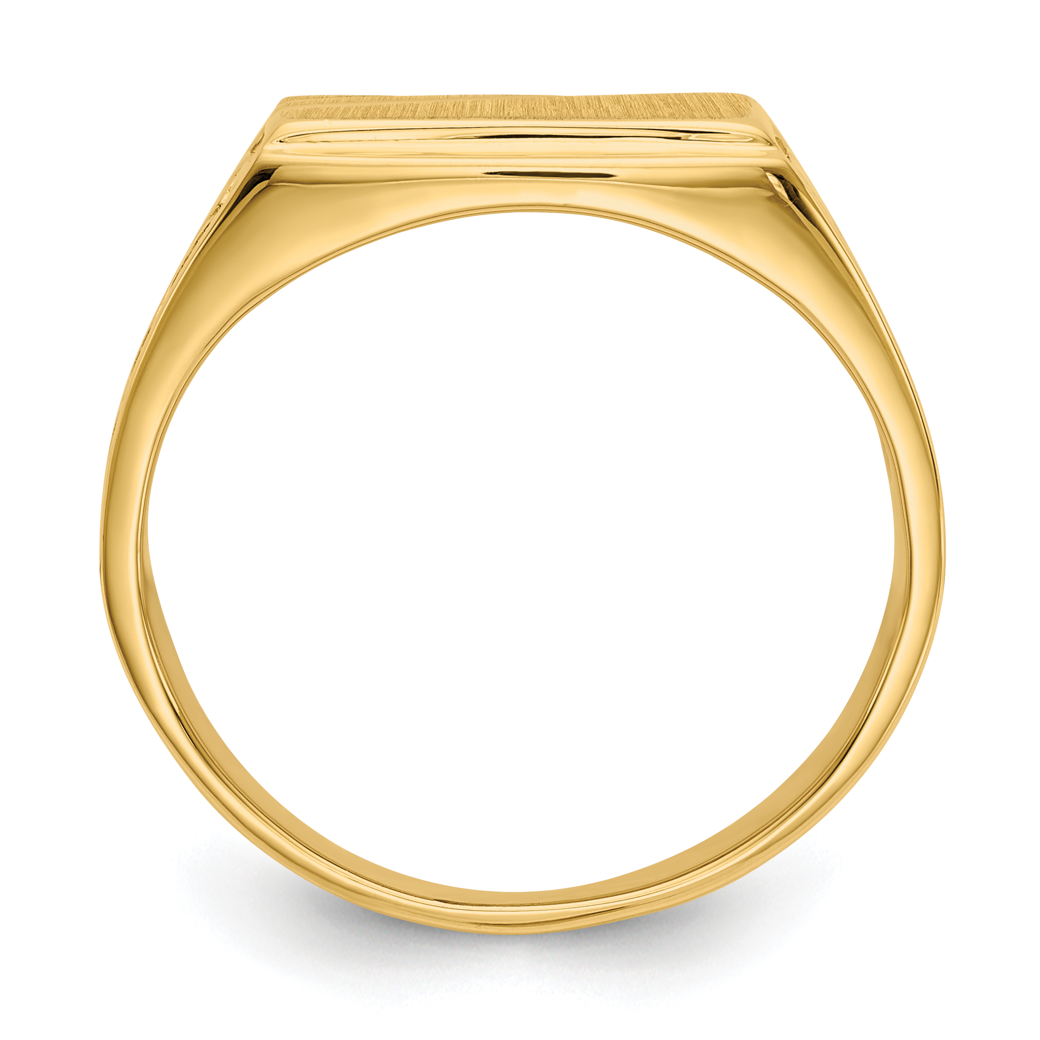 14k Yellow Gold Mens Signet Band Ring Size 10.00 Man Fine Jewelry Gift For Dad Mens For Him - image 1 de 5