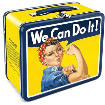 Smithsonian Rosie The Riveter Tin Tote Lunch Box