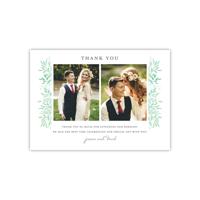 Personalized Wedding Thank You - Elegant Sprigs - 5 x 7 Flat