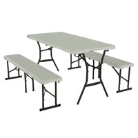 Lifetime 5-Foot Table and Bench Combo (Light Commercial), 80502